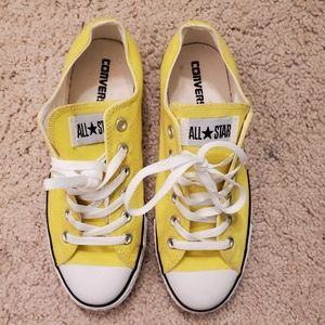 NWOT Converse All star yellow shoes
